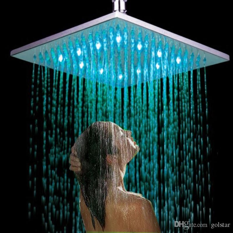 2018 Luxury Ceiling/Wall Mount 8 10 12 Led Overhead Rain Shower Head  Bathroom Big Rainfall Showerhead Chrome Polish Finish From Golstar, $20.51  | Dhgate.Com