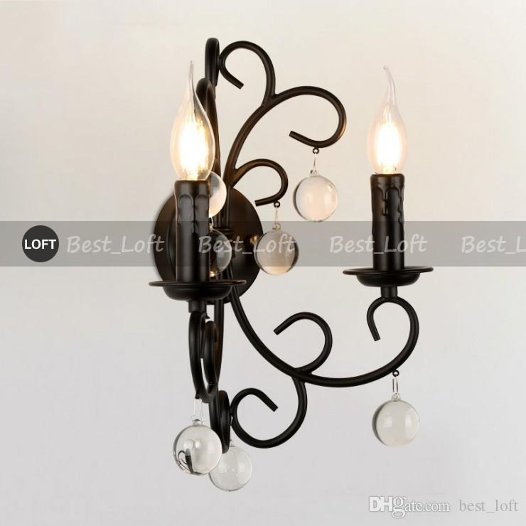 POTTERY BARN Bellora Sconce Lampada da parete Black Metal Light loft industrial fixture