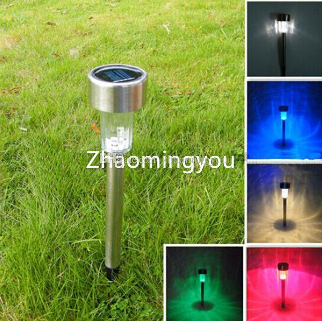5.5cm stainless stell Solar led garden light outdoor lighting waterproof garden lawn landscape decoration
