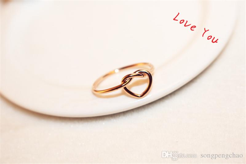 Rose Gold Plated Ring Euroean Brand Punk Finger Rings for Women / Girls Party Prom Costume Jewelry Accessories Bijoux