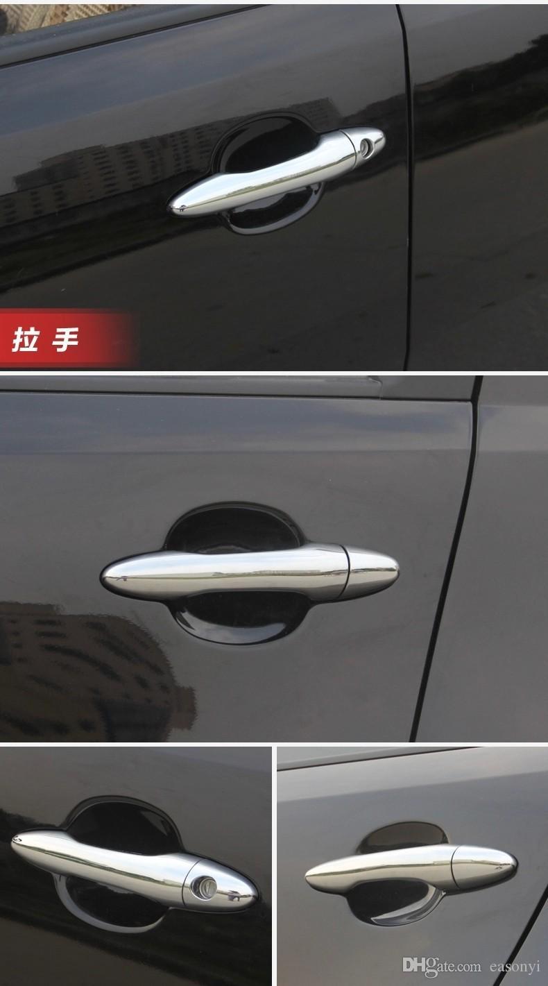 / set 기아 Sportage ABS 크롬 자동차 도어 손잡이 커버 트림 2011 2012 Sportage Exterior 자동차 스타일링 액세서리