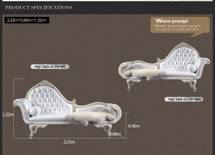 Versailles Chaise Lounge Mobili classici italiani, European Classic Bedroom Bedroom Mobili di lusso in legno massello di lusso chaise chaise snoda spedizione gratuita