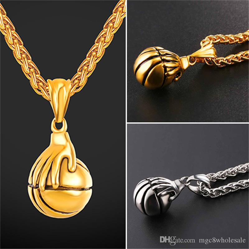 Wholesale u7 jewelry basketball pendants necklace bounce the ball wholesale u7 jewelry basketball pendants necklace bounce the ball design sports fashion 18k gold plated stainless steel chain men bijoux gp2690 diamond mozeypictures Images