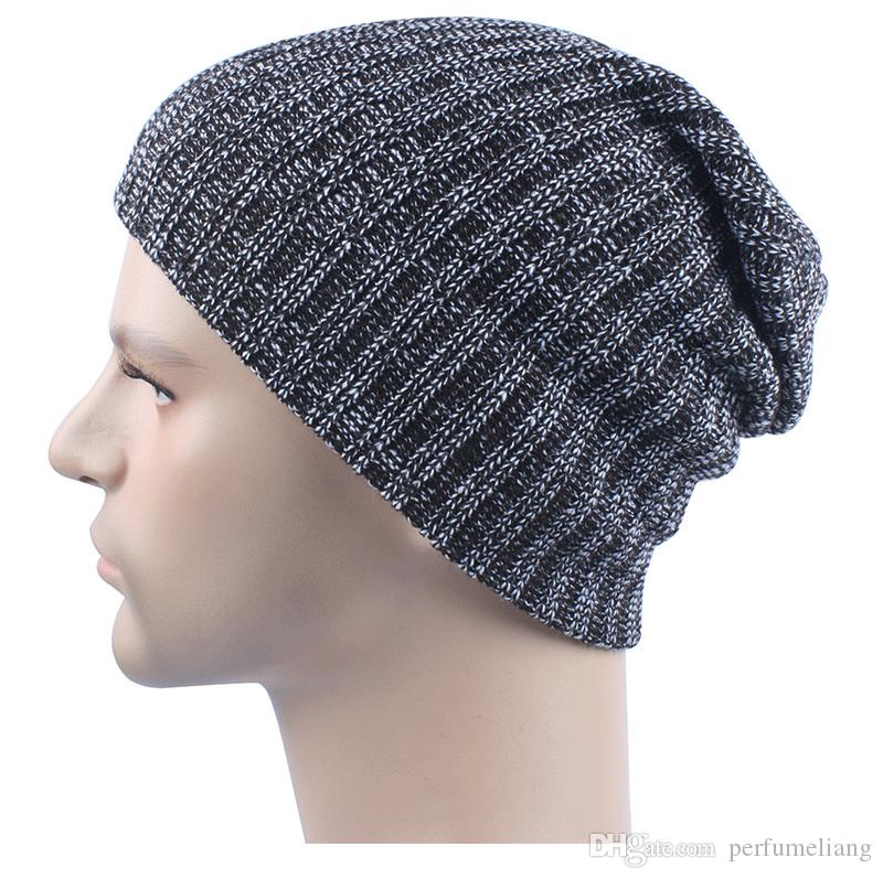 f0da5a5d059 Mix Colors Winter Casual Cotton Knit Hats For Men Baggy Beanie Hat Crochet  Slouchy Oversized Ski Cap Warm JF 11 Beanies For Girls Baby Hat From  Perfumeliang ...