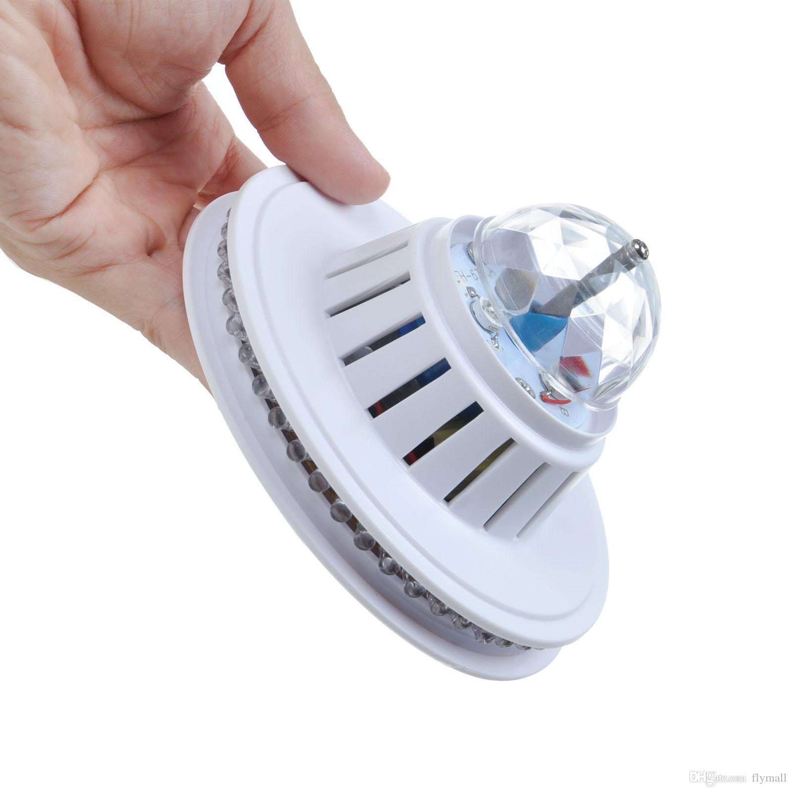 48LEDs 8W 회전 RGB LED 전구 색상 변경 크리스탈 매직 해바라기 공 빛 Led 효과 RGB 크리스탈 무대 디스코 크리스마스 파티