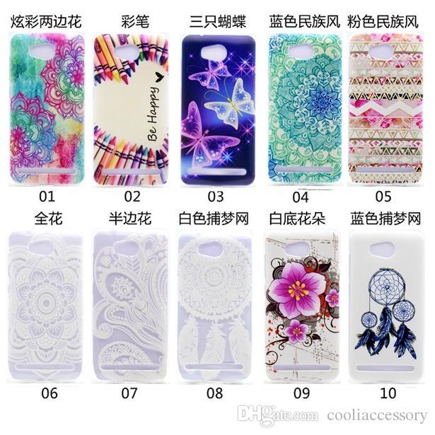 Huawei Y6 Y5 Y3 II 2 Yumuşak TPU Kılıf Silikon Şeffaf Mandala Çiçek Kalem Mutlu Tribal Rüya yakalayıcı Kelebek Kauçuk Kapak Cilt Lüks Be İçin