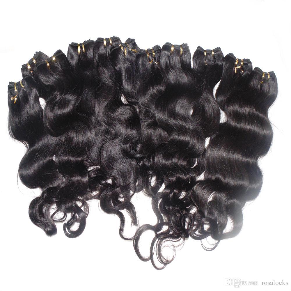 Fashion Queen massa dei capelli / 50g / piece dell'onda del corpo di umani indiani di tessitura dei capelli con la consegna veloce