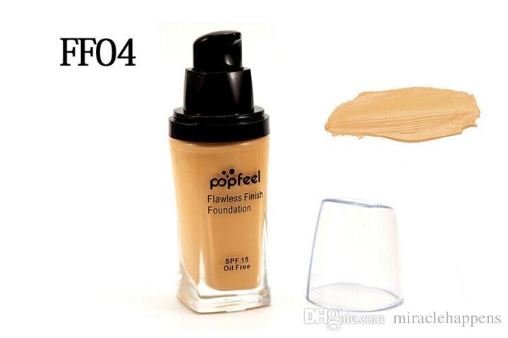 Popfeel Liquid Concealer Foundation Flawless Foundation 2016 Nuevas llegadas Fundación de maquillaje de cosméticos VS NYX Foundation Good Quality