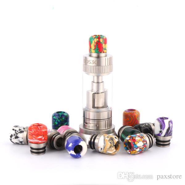 510 Thread Turquoise Ecig Drip Tip Beautiful Tophus Stone Drip Tips Double Rings Polishing for RDA RBA Atomizers DHL Free