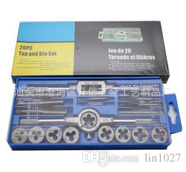 20pcs M3-M12 Manual Screw Thread Metric Plugs Taps wrench Die Wrench Tap Set