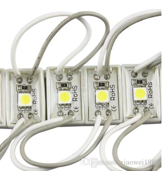 5050 SMD LED Module 12V, 1LED, Étanche pour lettre de canal LED Livraison gratuite rouge, jaune, bleu, couleur verte