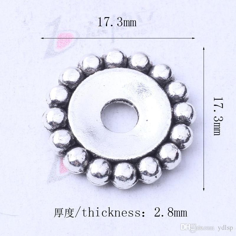 Granos del espaciador del copo de nieve de plata / encantos de bronce cupieron las pulseras o el collar DIY joyería / 3145z