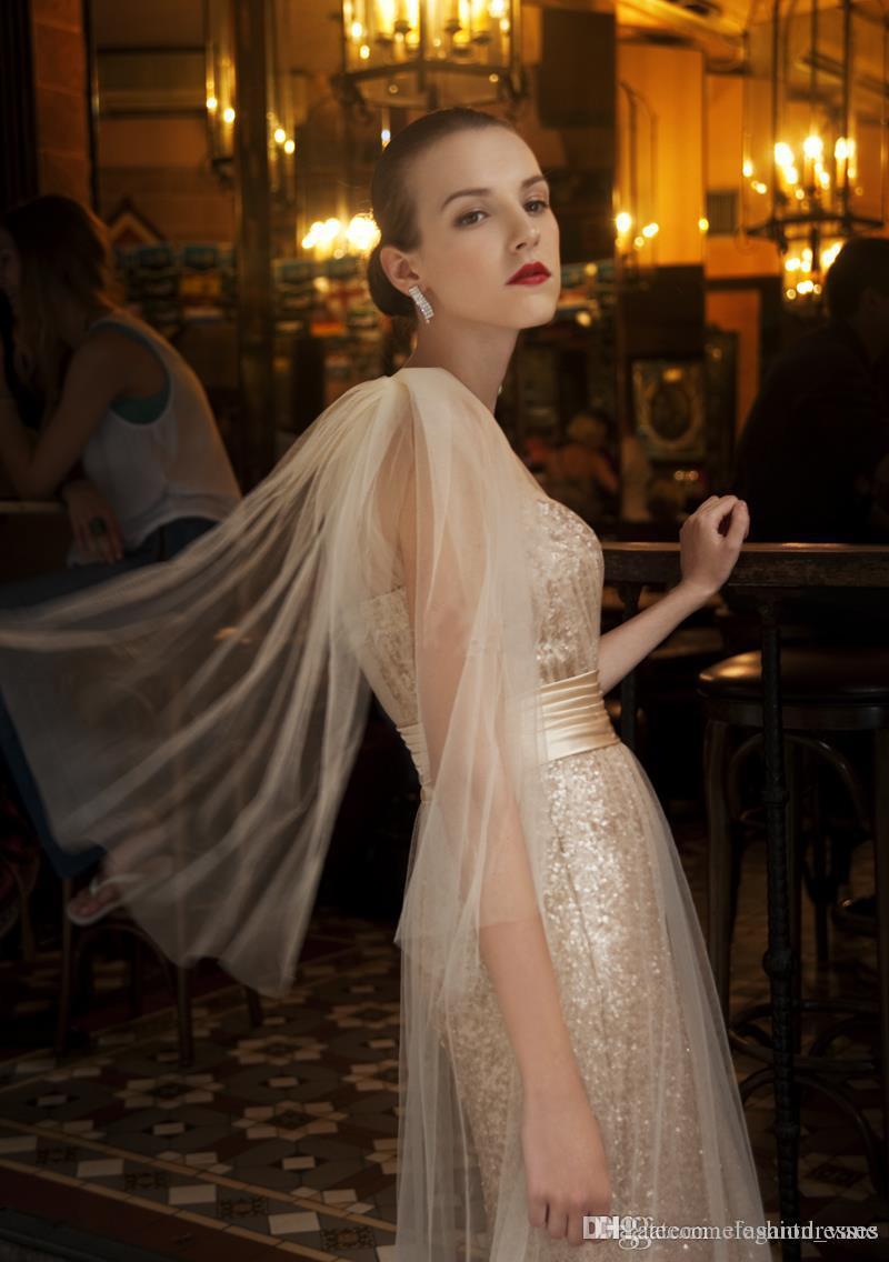 2021 Dernier sirène africain une épaule Gold paillette élégante longue personnalisée faite de célébrités robes de soirée de fête bon marché
