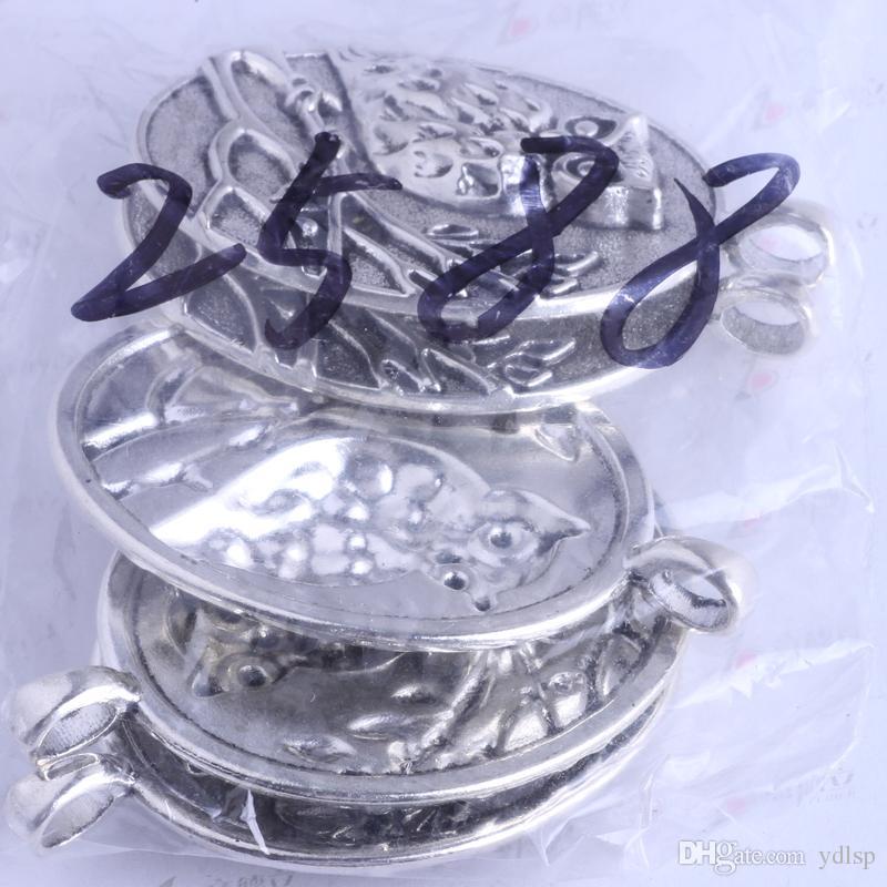 68.8 * 47 * 8.9mm búho redondo encantos vintage antiguo plata / aleación de bronce colgante de zinc colgante de joyería de moda collar 10 unids / lote 2588