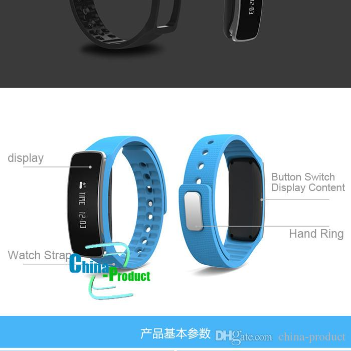 H18 Smart Bracelet Wrist Watch Band 50mah battery 0.86inch OLED Ce Rohs certification for iphone and samsung S7