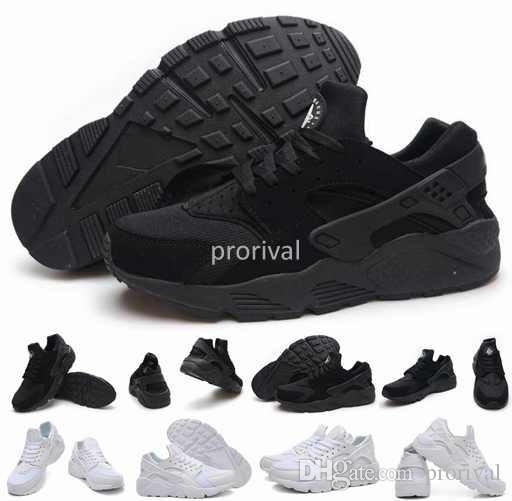 more photos 74b97 5dd8c Hot Sale Air Huarache Ultra Running Shoes For Women Men,Mens Woman White  Triple Black Huaraches Sports Sneakers Trainers Huraches Shoe 36 46 Running  Store ...