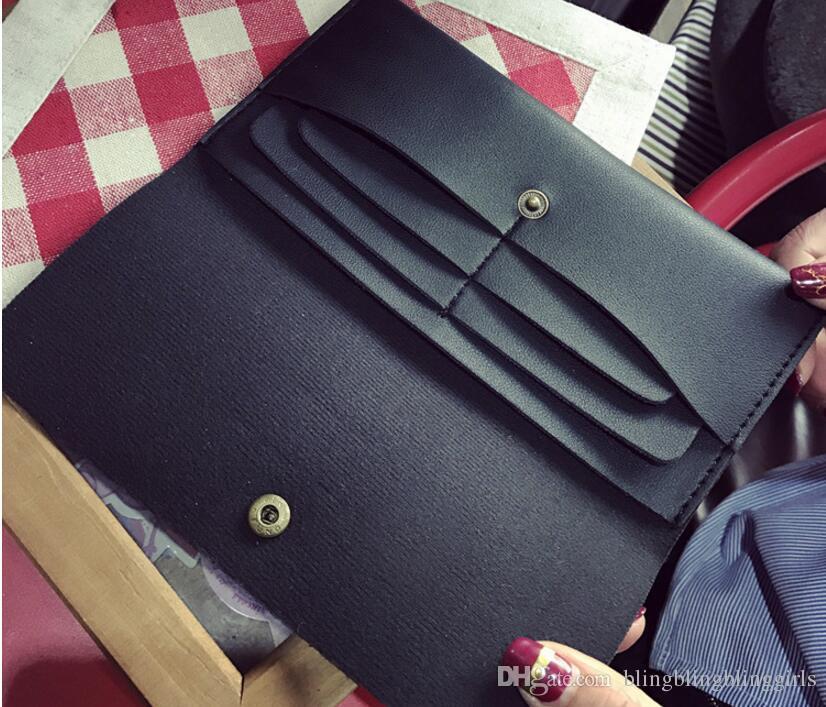 LUCIA'S Nova Chegada Estilo Europeu e Americano Lingge longo Bolsa bolsa de Mão com zíper de grande capacidade Cartão Multi Carteira Do Telefone Móvel saco