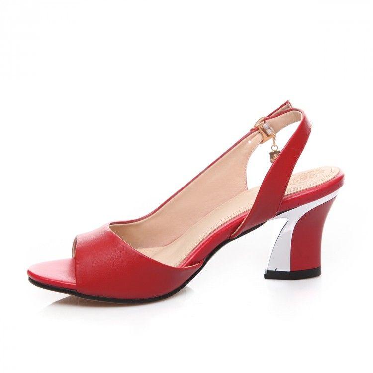 Sandalen Echtes Leder Neu 40 41 42 43 high heel 6CM Klassische High-grade Red Damen Sommer kleine Yards EUR Größe 33-44