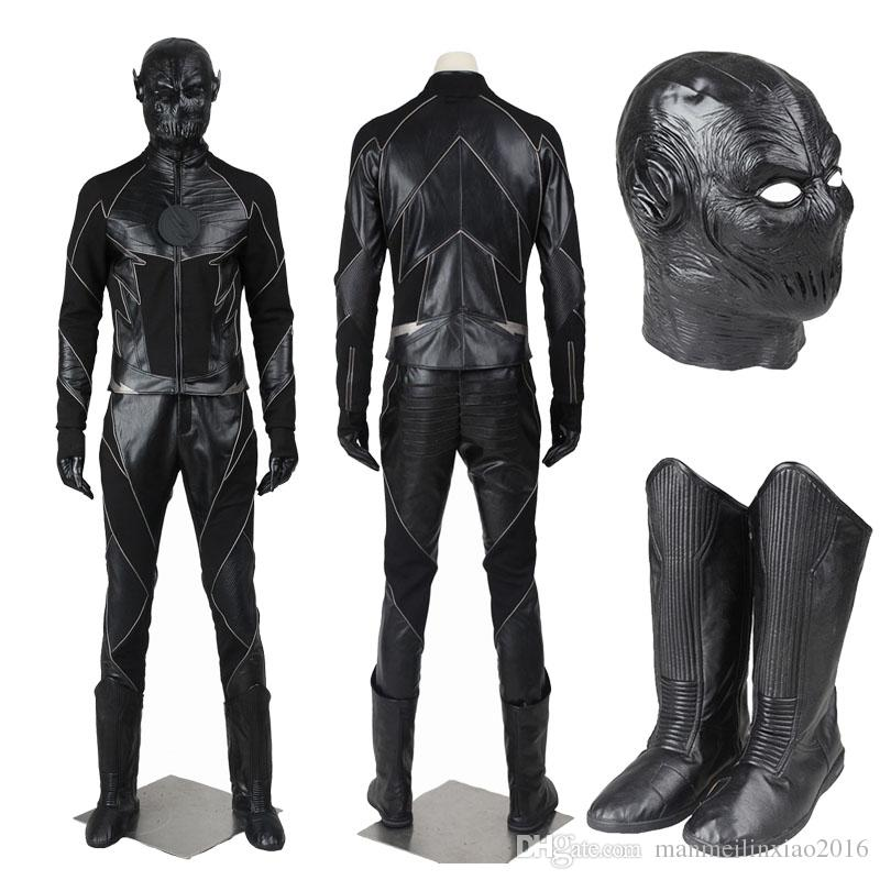 Popular Super Hero Movie The Flash Season Zoom Flash Black Flash Cosplay Costume Villain Full Suit With Shoes Mask For Halloween Popular Halloween Themes ...  sc 1 st  DHgate.com & Popular Super Hero Movie The Flash Season Zoom Flash Black Flash ...