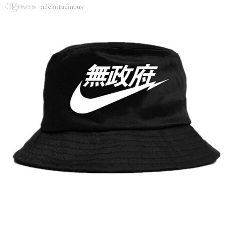 Wholesale-2016 Hot Selling Fashion Camping Hiking Hunting Fishing Outdoor Bob Cotton Plain Blank Black Bucket Hat Cap Hip Hop Men Women