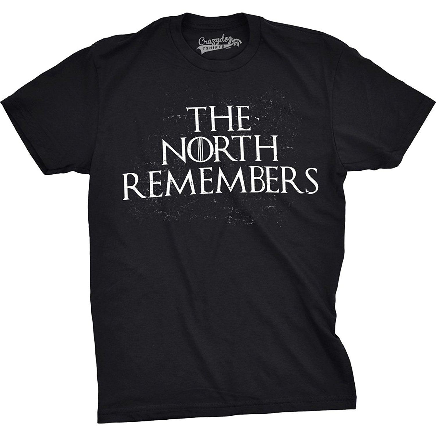 Mens The North Remembers Funny T Shirts Cool Winter Christmas ...