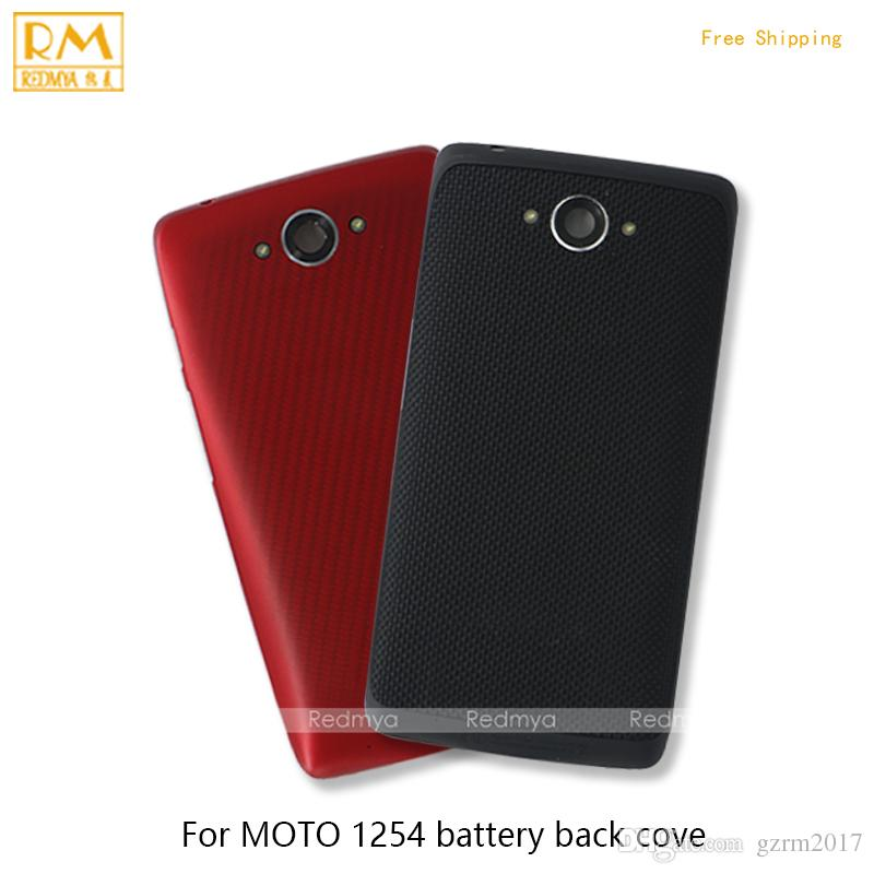 new style abf19 12eae 5pcs/lot Original For Motorola Moto Droid Turbo XT1254, M XT1662 Battery  Back Cover Housing Full Cover Door Rear Case Phone Parts