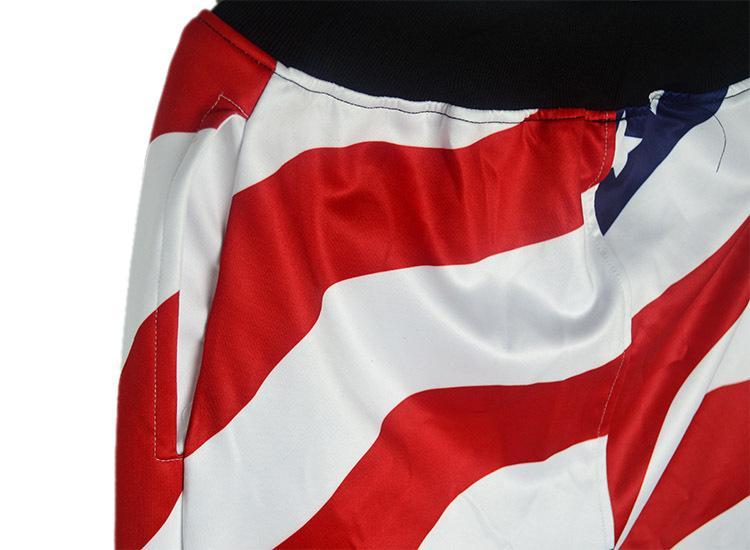 Herrenbekleidung Hosen Lässige Sweatpants Baggy Harem Slacks Amerikanische US-Flagge Druckhose Teenager Jungen Jogger Tanz Sportwear Bekleidung