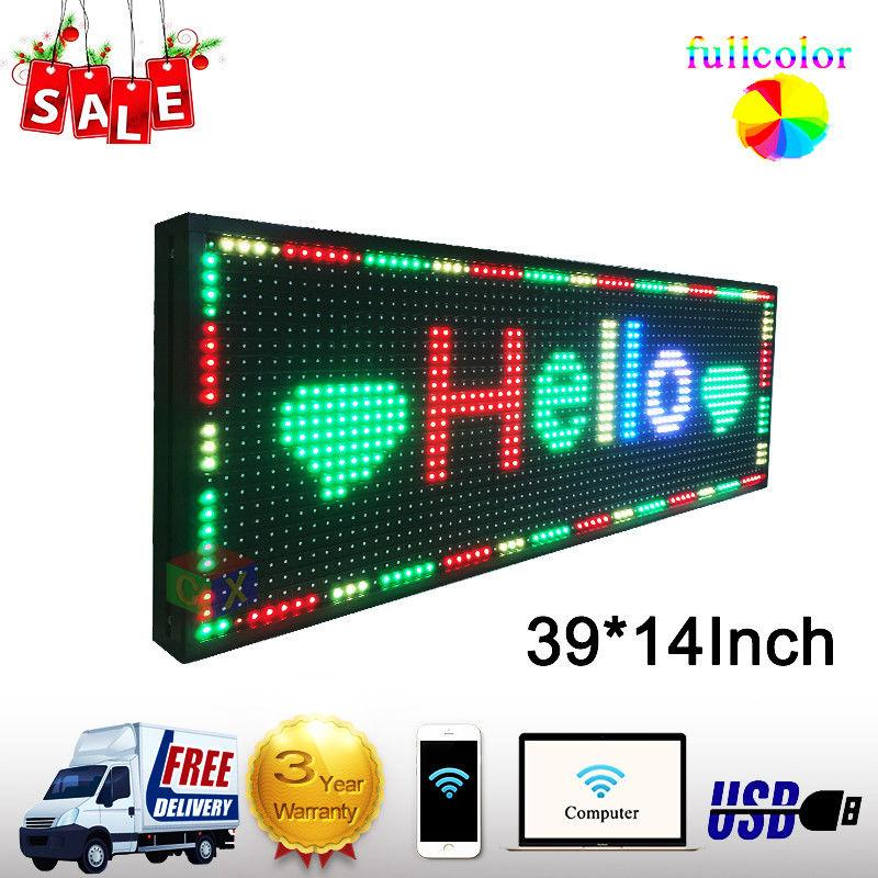 led sign p13 outdoor programmable full color led display rgb led