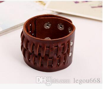 Europe and the United States retro foreign trade jewelry, factory outlets, leather bracelet, punk bracelet, original leather bracelet
