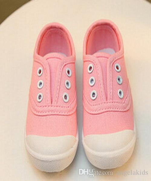 Kids Shoes cheap kids Shoes Canvas Shoes Boys Girls Solid Color Casual Studen Flats Baby Candy Color Soft Bottom Toddler Shoes