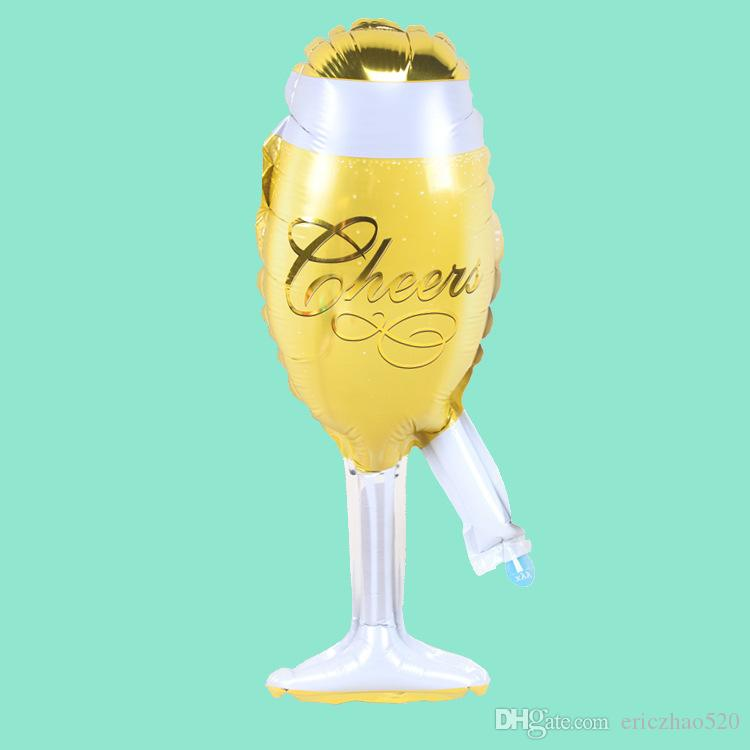 Large Champagne Pink Cup Beer Bottle Balloons Aluminium Foil Helium Wedding Party Ballons Party Birthday Wedding Christmas Decoration