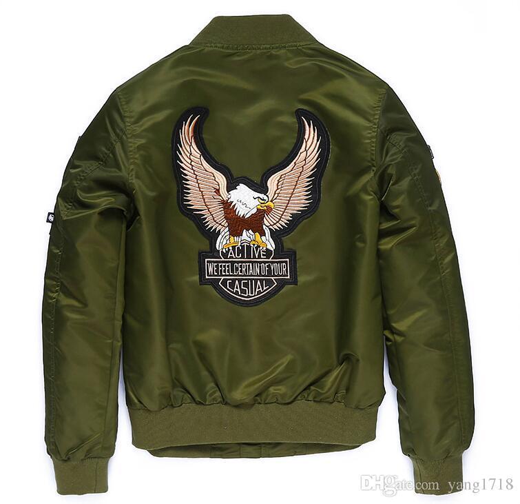 Ücretsiz navlun MA-1 Hava Kuvvetleri uçuş suit kanye west thes kanatları kartal hip hop Beyzbol üniforma ceket gelgit harajuku pamuk Ceket
