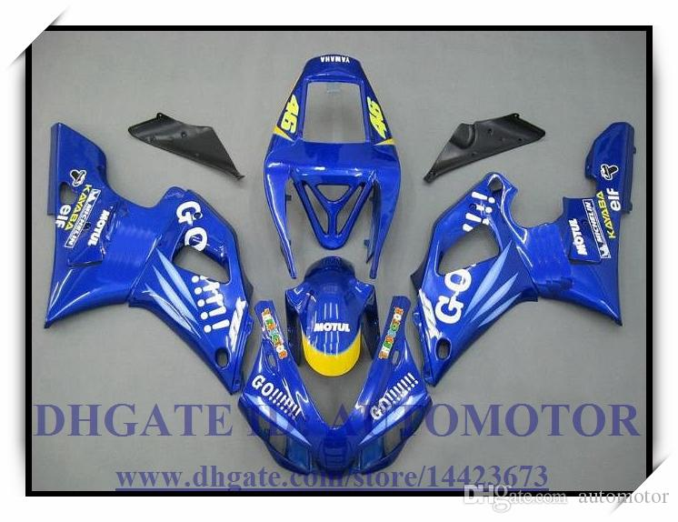 COLOUR BLUE INJECTION BRAND NEW FAIRING KIT 100% FIT FOR YAMAHA YZF1000 YZF R1 1998-1999 YZFR1 1998 1999 YZF R1 98 99 #DX833