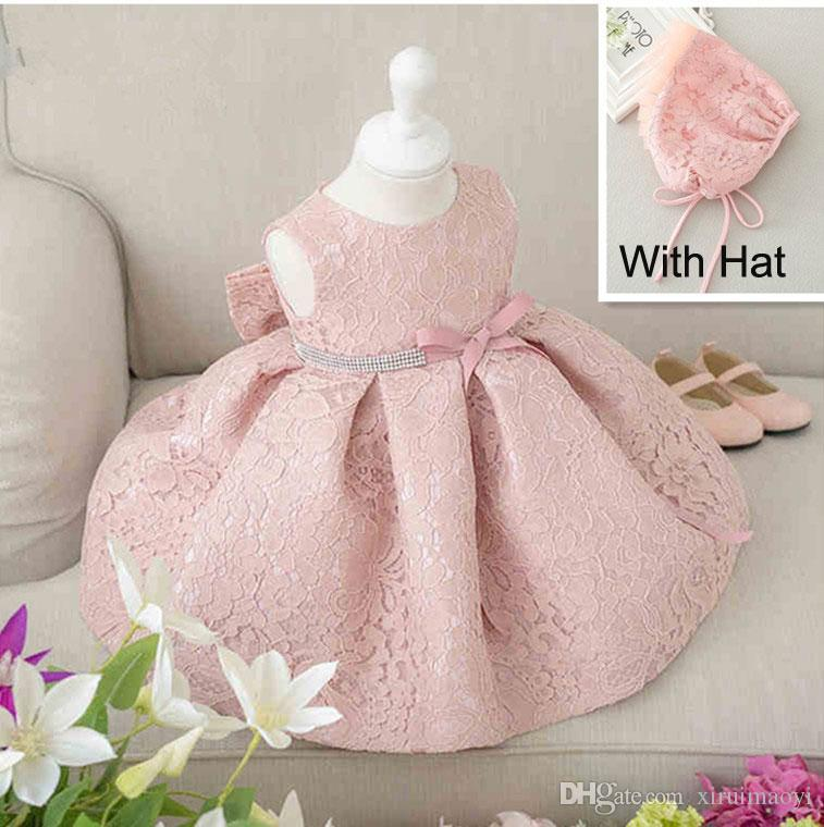 fe1aa555ce62b Newest Infant Baby Girl Birthday Party Dresses Baptism Christening Easter  Gown Toddler Princess Lace Flower Dress For 0 2 Years First Communion Gifts  For ...