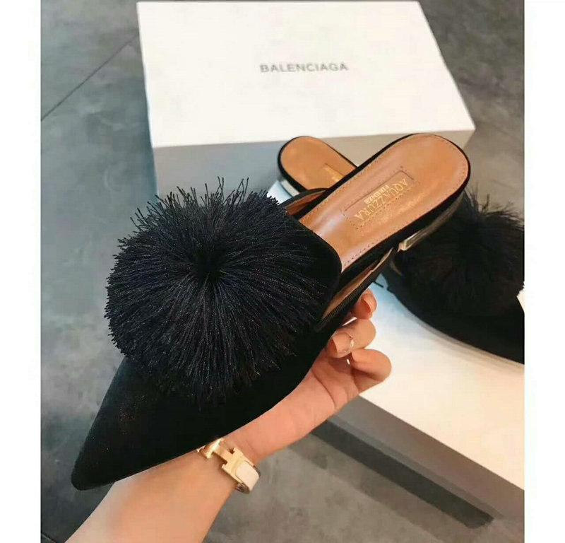 High Fashion Luxury Aquazzura Shoes Same Style With Kendall Jenner Women Fashion Shoes Casual Shoes Black Color