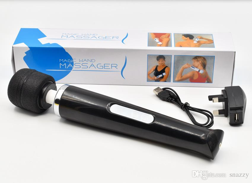 30 velocidade Recarregável Varinha Mágica Poderoso Massageador Corporal Clitoriano Vibrador AV Vibradores Brinquedos Adultos Do Sexo para Casais Produtos Do Sexo
