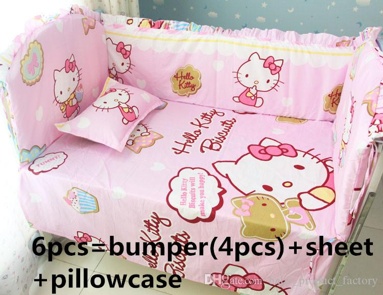 Promotion Hello Kitty Bedding Set Handmade Baby Girl And Boy Crib