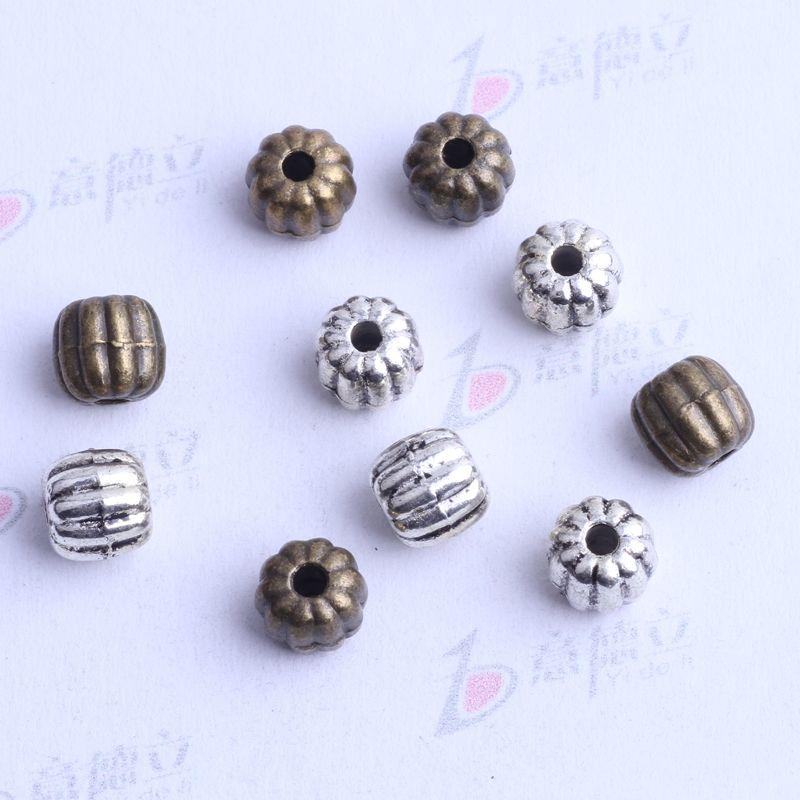 200 unids / lote 5.4 * 5.7 mm encanto del grano del espaciador de plata antigua / bronce aleación de zinc para DIY colgante de joyería que hace accesorios 2495