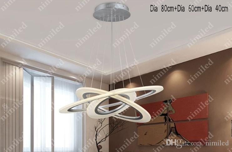 nimi700 1 / 2 / 3-Ring 현대 아크릴 LED 링 샹들리에 램프 거실 레스토랑 바 천장 펜던트 램프 호텔 프로젝트 조명 조명