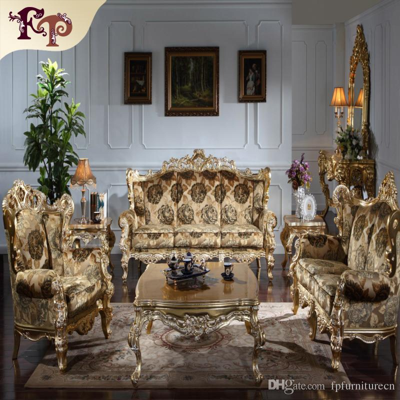 2018 Baroque Living Room Sofa Furniture Antique Classic Sofa Set Italian Luxury Classic Sofa Set
