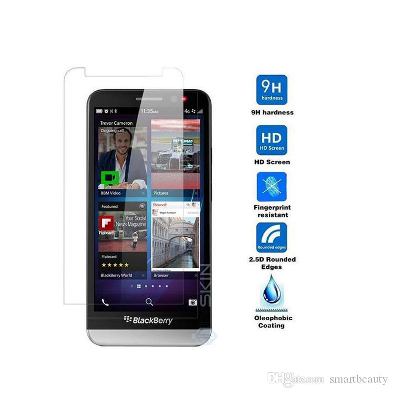 Ultra Thin LCD Clear Tempered Glass Screen Protector 9H Explosion Proof  Protective Film For Blackberry Z30 Z20 Z10 Z3