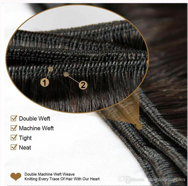 Brazilian Russian human hair weft 8-30inch Natural Color Malaysian hair straight Indian Remy Unprocessed Virgin Human Hair Extensions DHgate