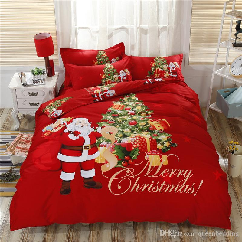 new arrived christmas bedding set king size santaclaus sets 3d blue snow white christmas deer. Black Bedroom Furniture Sets. Home Design Ideas