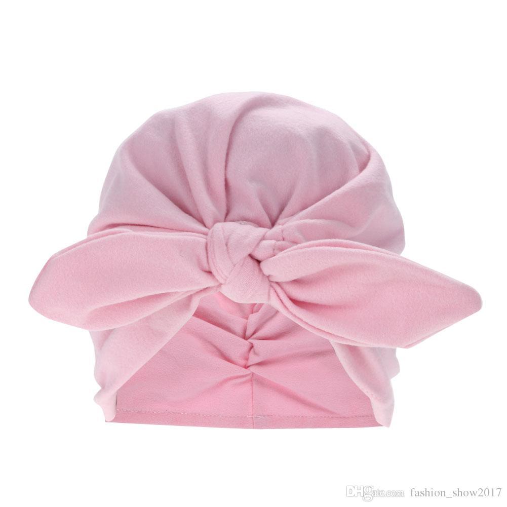 Neugeborenes Baby Jungen Mädchen Haar Bandana Head Wraps Knoten Kopfband Turban Mode HeadWrappen Stirnbänder Kopfschmuck Zubehör