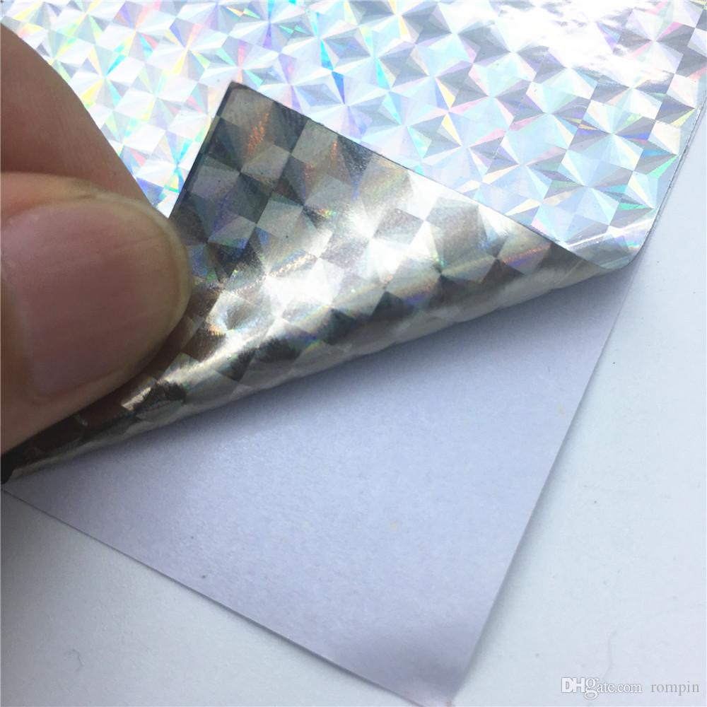 7 pcs Holographic Adhesive Tape 10*20cm Film Flash Lure Making Fly Tying Sticker