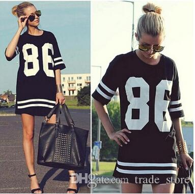 04a930109de Fashion Summer Sport T Shirts Clothes Casual Women Tops Ladies Girls Plus  Size Black White Letter Long T Shirts Vestidos Pullover B67 Buy T Shirts  Online ...