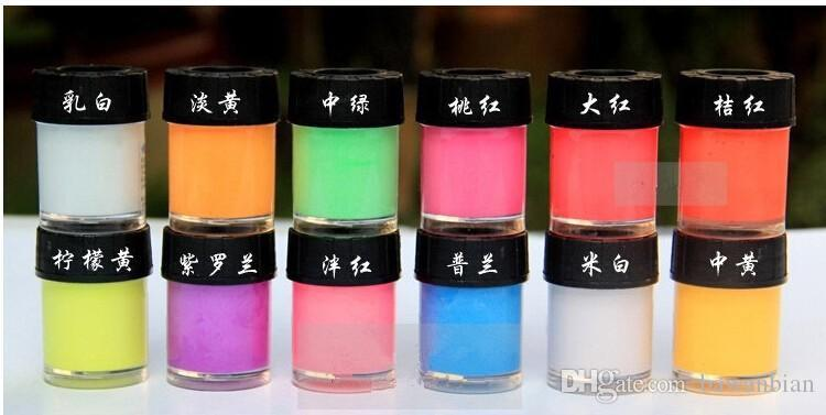 Newest Glow in the Dark Daytime Visible UV Re-active Paint 10ml Neon Pigment Drawing Halloween Paint Luminous /