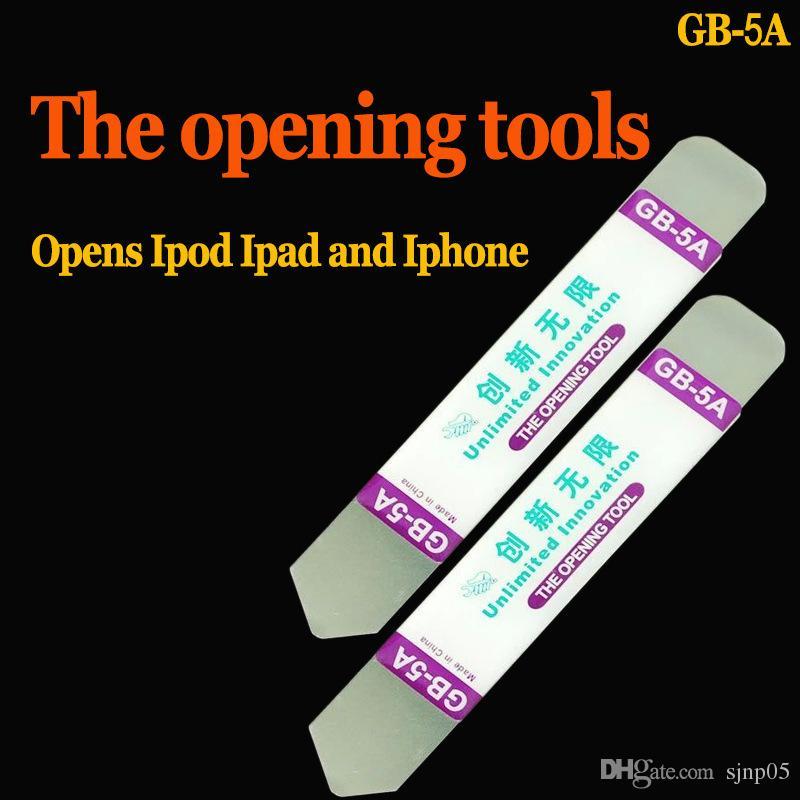 GB-5A Werkzeug Crowbar Ultra-dünne Edelstahl Soft Pry Öffnungswerkzeug Crowbar für iPhone Samsung Touchscreen Handy Gehäuse Reparatur