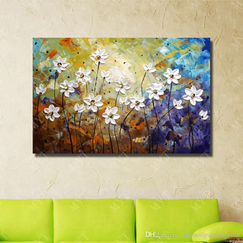 Bel Fiore Wall Art Economici Moderna Pittura A Olio Soggiorno Decorazione Dipinto A Mano Coltello Pittura A Olio su Tela