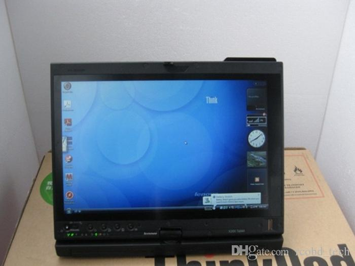 100% High Quality Professional diagnostic computer laptop for Lenovo ThinkPad x200t 4g choose HDD for mb star for bmw icom